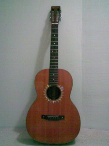 Full front of guitar