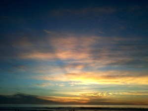 Sunset Dec 24 2014 Pacific Beach San Diego CA