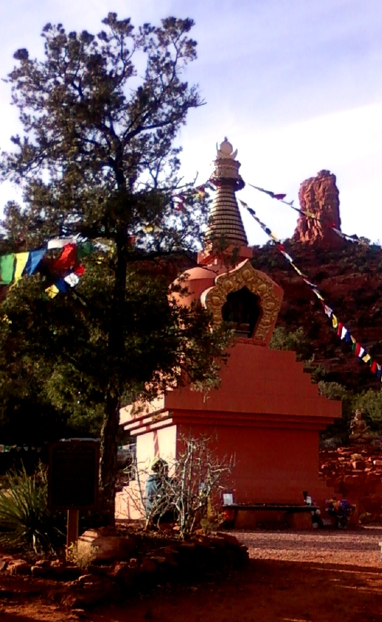 Stupa in Sedona with buddha to the side Dec. 29  2012