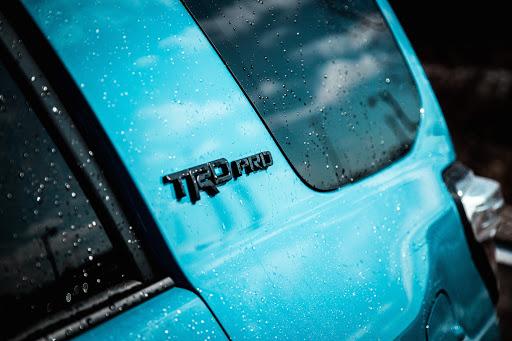 Turquoise Toyota 4 runner